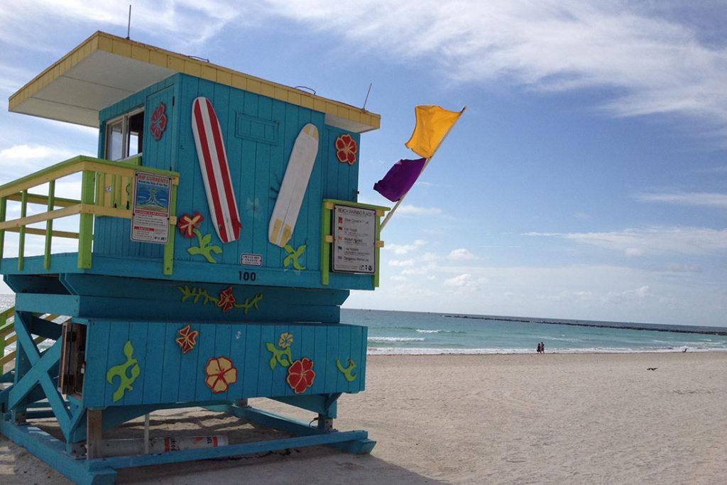 Miami Beach Strandhäuschen